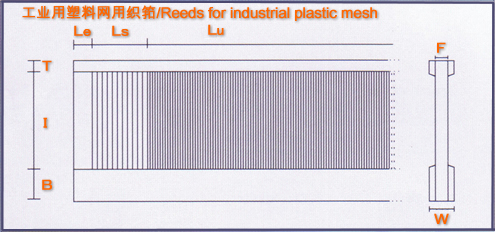 工业用塑料网用织筘/Rees for Plastic Industrial Mesh